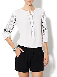 Eva Mendes Collection - Kimberly Popover Blouse