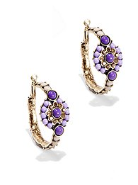 Eva Mendes Collection - Ornate Hoop Earring