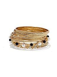 Eva Mendes Collection - Pearl-Mix Bangle Set