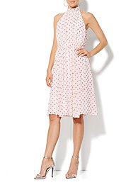 Eva Mendes Collection - Whitney Halter Dress - Dot Print