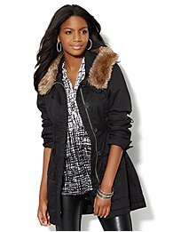 Faux-Fur Trim Anorak