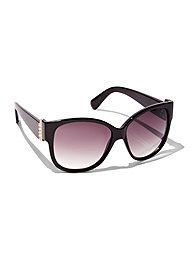 Faux-Pearl Accent Sunglasses