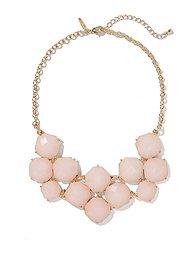 Floral-Cabochons Bib Necklace