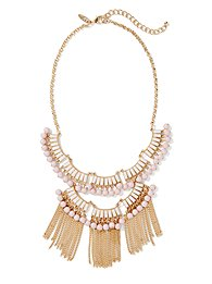 Fringe & Beads Bib Necklace