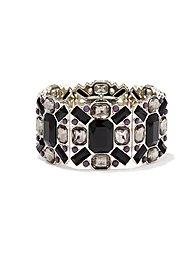 Geo Faux-Stones Stretch Bracelet