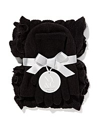 Hat, Gloves & Ruffle Scarf Gift Set