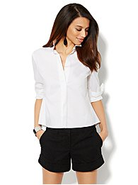 Hi-Lo Cropped Shirt