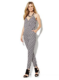 Ikat V-Neck Jumpsuit