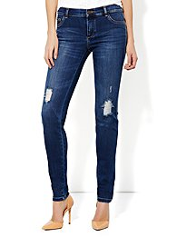Jean Legging - Destroyed  Finish  - Bayside Blue Wash - Petite