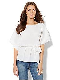 Kimono-Sleeve Blouse