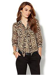 Lexington Soft Shirt - Leopard Print