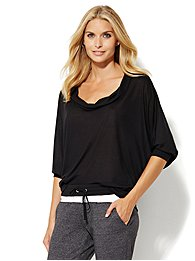 Lounge - Cowl-Neck Dolman Top