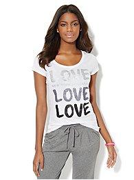 Lounge - Glitter Love Logo Tee
