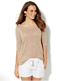 Lounge - Light-Knit Draped Back Pullover