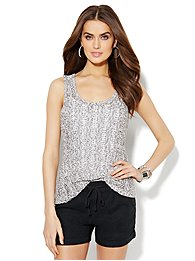 Lounge - Open-Knit Tank Top