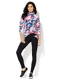 Love, NY&C Collection - Asymmetrical Zip Top - Printed