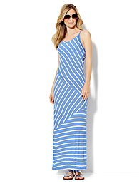 Love, NY&C Collection - Contrast-Stripe Maxi Dress