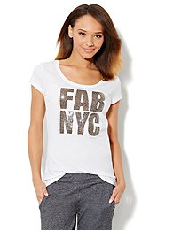 Love, NY&C Collection - Fab NYC Logo Tee-Shirt
