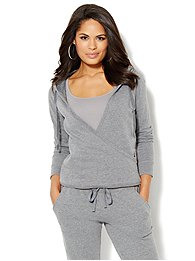 Love, NY&C Collection - Faux-Wrap Hoodie - Solid