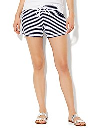 Love, NY&C Collection - French Terry Stripe Short