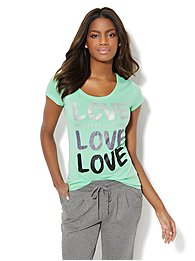 Love, NY&C Collection - Glitter Love Logo Tee