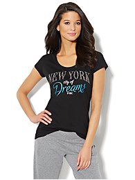 Love, NY&C Collection - Glittering Logo Tee