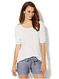 Love, NY&C Collection - Light-Knit Draped Back Pullover
