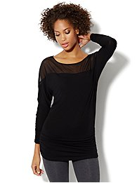 Love, NY&C Collection - Mix-Fabric Tunic Top