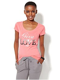 Love, NY&C Collection - Sequin Give Love Tee
