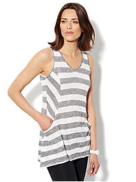 Love, NY&C Collection - Sharkbite Striped Tunic