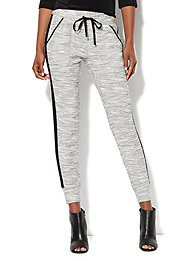 Love, NY&C Collection - Slim Leg Sweatpant - Marled