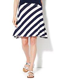 Love, NY&C Collection - Stripe Skater Skirt