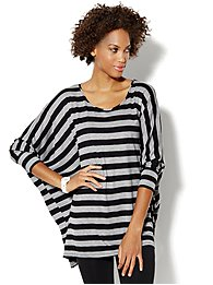 Love, NY&C Collection - Striped Dolman Tunic Top