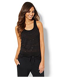 Love, NY&C Collection - Studded Racerback Tank Top