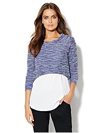 Love, NY&C Collection - Textured Crop Sweater