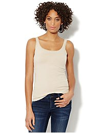 Lurex Lace-Trimmed Camisole