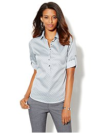 Madison Popover Shirt - Dot Print
