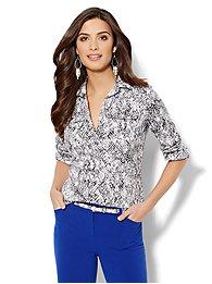Madison Popover Shirt - Python Print