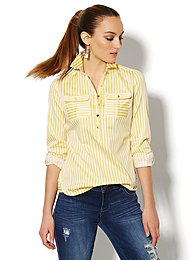 Madison Popover Shirt - Striped