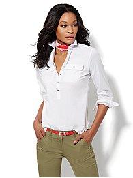 Madison Shirt - Cotton-Blend Popover