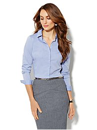 Madison Shirt -  New Secret Snap Design - Pier Blue