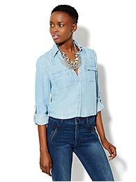 Mercer Soft Cropped Shirt - Tencel