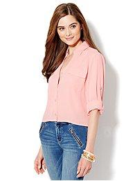 Mercer Soft Cropped Shirt