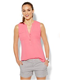Mercer Soft Popover Shirt - Sleeveless - Solid