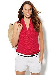 Mercer Soft Shirt - Sleeveless - Polka- Dot