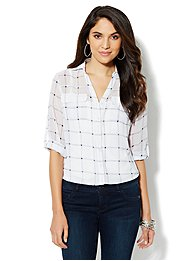 Mercer Soft Shirt - Windowpane Print