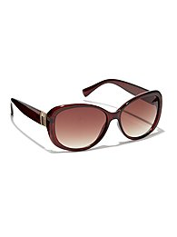 Metallic-Accent Sunglasses