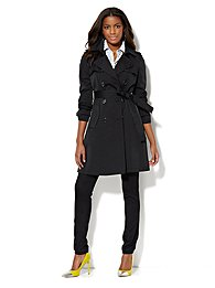 NY Double-Breasted Trench Coat