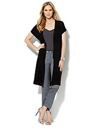 Open-Stitch Duster Cardigan