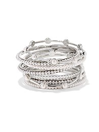 Pearl Beaded Bangle Set